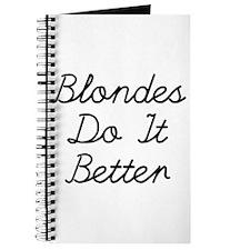 Blondes Do It Better Journal