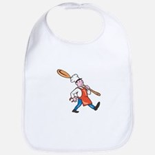 Chef Cook Marching Spoon Cartoon Bib