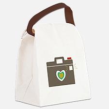 Camera Flash Canvas Lunch Bag