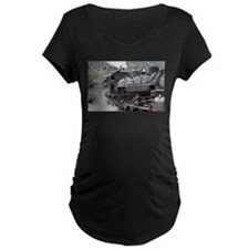 I'm just loco: steam engine, Col Maternity T-Shirt