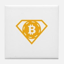 StonefishSays Bitcoin Logo Tee Tile Coaster