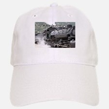 I'm just loco: steam engine, Colorado 3 Baseball Baseball Cap