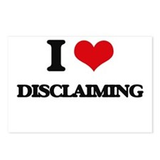 I Love Disclaiming Postcards (Package of 8)
