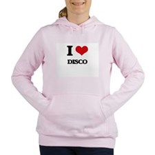 I Love Disco Women's Hooded Sweatshirt