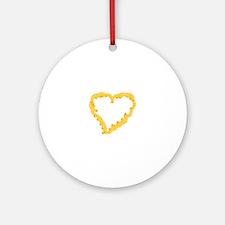 Macaroni Heart Ornament (Round)