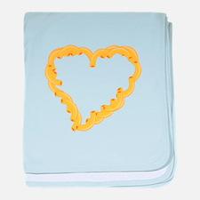 Macaroni Heart baby blanket