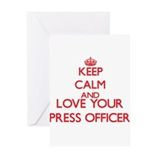 Keep Calm and love your Press Offic Greeting Cards