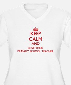 Keep Calm and love your Primary Plus Size T-Shirt