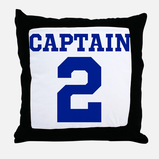 CAPTAIN #2 Throw Pillow