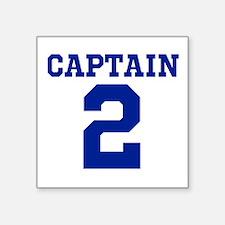"""CAPTAIN #2 Square Sticker 3"""" x 3"""""""