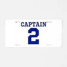 CAPTAIN #2 Aluminum License Plate