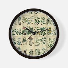 Illustrated Flora Wall Clock