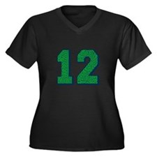 Go Hawks 12 Plus Size T-Shirt