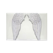 Cute Angel wings Rectangle Magnet (10 pack)