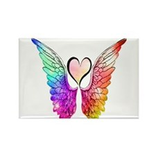 Unique Angel wings Rectangle Magnet
