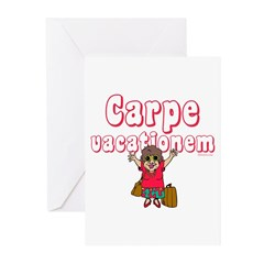 Carpe Vacationem f Greeting Cards (Pk of 10)