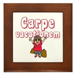 Carpe Vacationem f Framed Tile