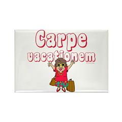 Carpe Vacationem f Rectangle Magnet (10 pack)
