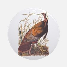 Audubon Wild Turkey Ornament (round)