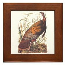 Audubon Wild Turkey Framed Tile