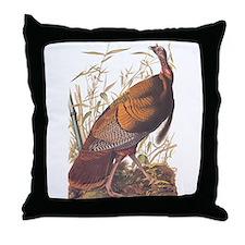 Audubon Wild Turkey Throw Pillow