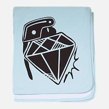Diamond grenade baby blanket