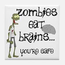 Zombies eat Brains Tile Coaster