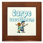 Carpe Vacationem c Framed Tile