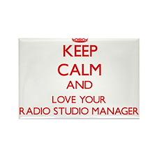 Keep Calm and love your Radio Studio Manag Magnets