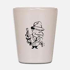 Mobster toon Shot Glass
