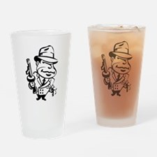 Mobster toon Drinking Glass