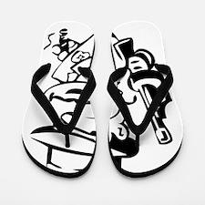 Mobster toon Flip Flops