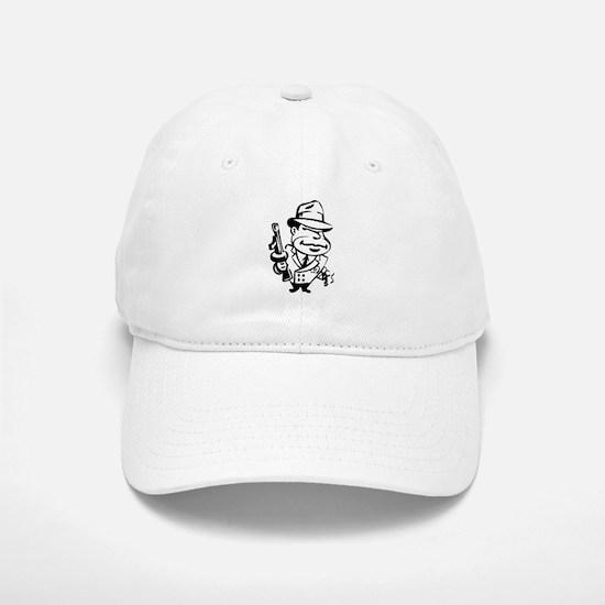 Mobster toon Baseball Baseball Cap