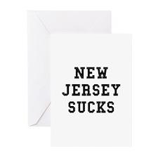 New Jersey Sucks Greeting Cards (Pk of 10)