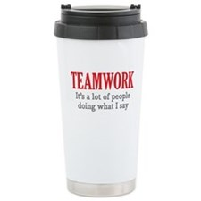 Cute Teamwork Travel Mug