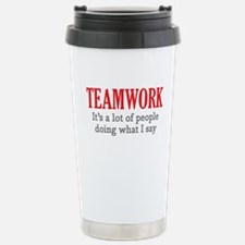 Unique Teamwork Travel Mug