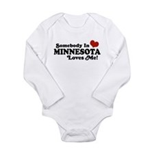 Unique Someone in georgia loves me Long Sleeve Infant Bodysuit