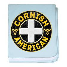 Cornish American Flag Ensign baby blanket