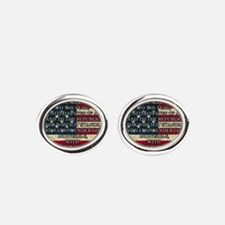 Pledge of Allegiance 3% Oval Cufflinks