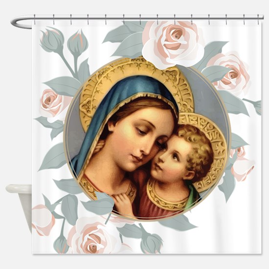 Our Lady of Good Remedy Shower Curtain