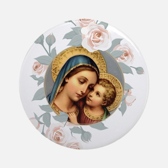 Our Lady of Good Remedy Round Ornament