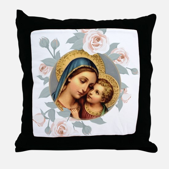 Our Lady of Good Remedy Throw Pillow