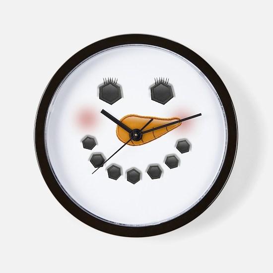 Snow Woman Wall Clock