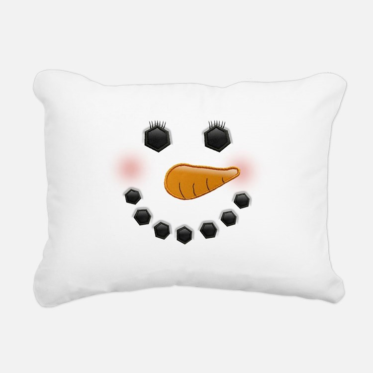 Snow Woman Rectangular Canvas Pillow