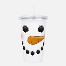 Snow Woman Acrylic Double-wall Tumbler