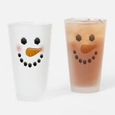 Snow Woman Drinking Glass