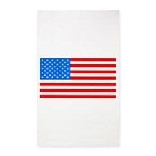 American Flag Light Blue 4th of July Pie Area Rug