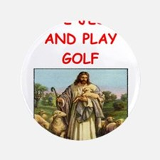 "i love golf 3.5"" Button"