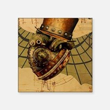 """Time Travelers Heart Square Sticker 3"""" x 3"""""""