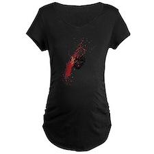 Lipstick grunge Maternity T-Shirt